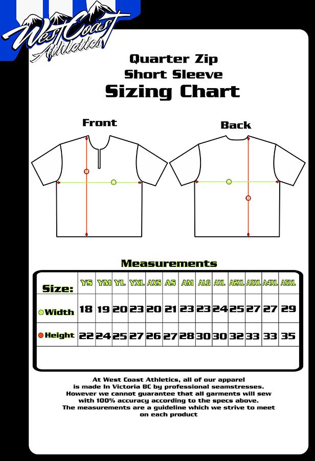 quarter zip short sleeve