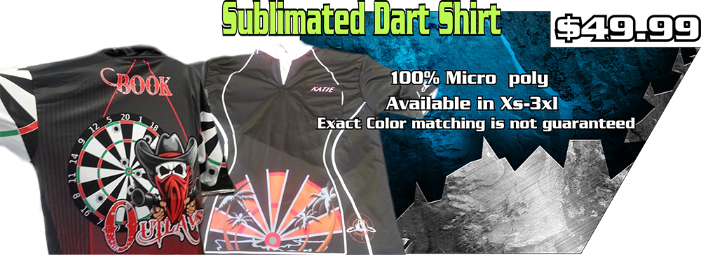 sublimated dart shirt ad